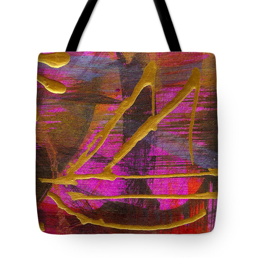Gretting Cards Tote Bag featuring the mixed media Magenta Joy Sails by Angela L Walker