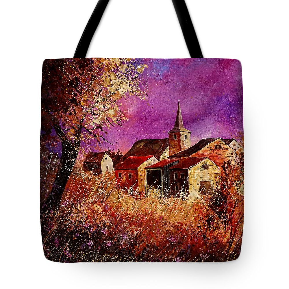 Landscape Tote Bag featuring the painting Magic Autumn by Pol Ledent