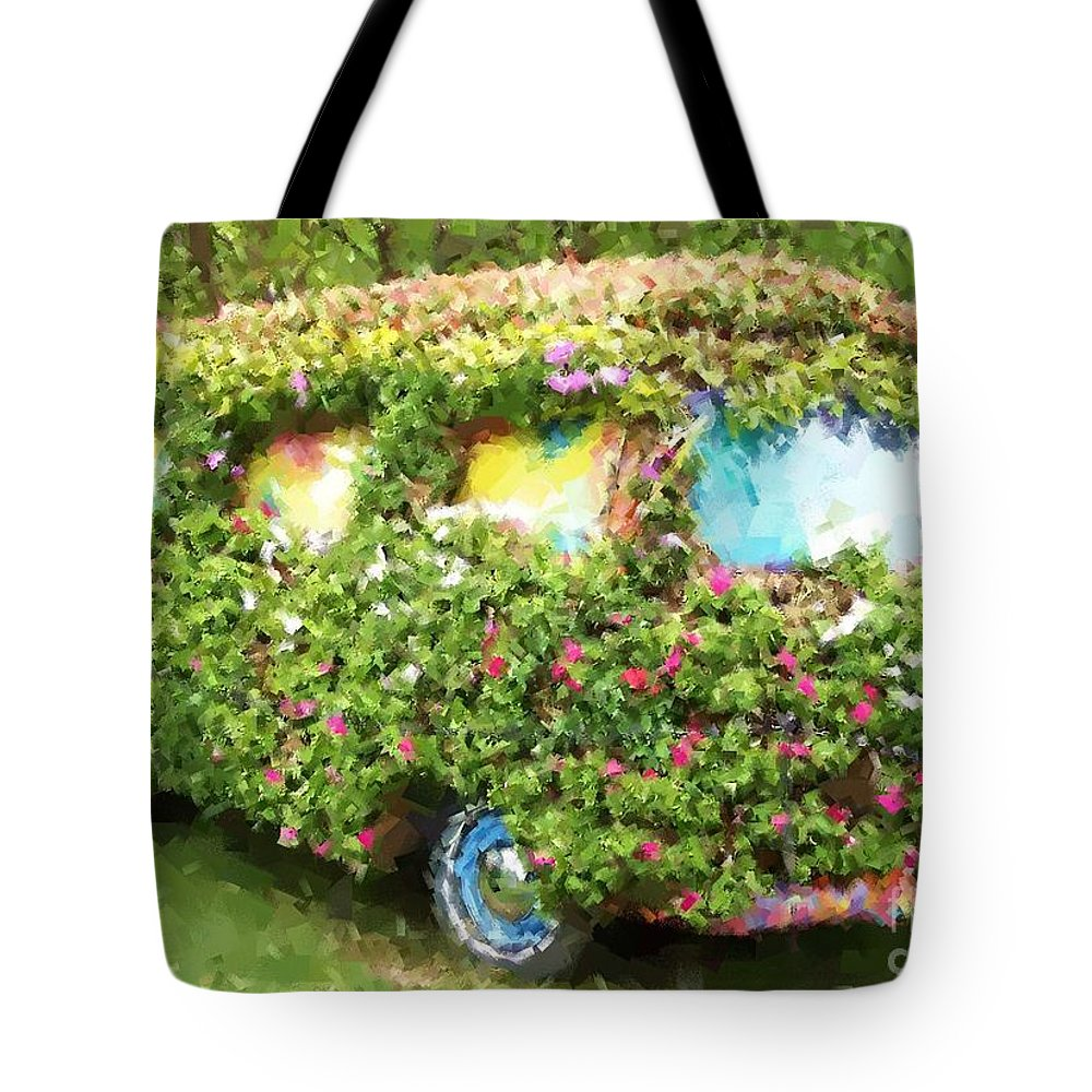 Volkswagen Tote Bag featuring the photograph Magic Bus by Debbi Granruth