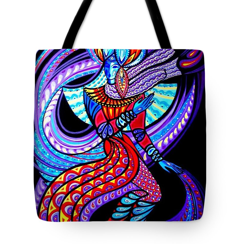 Inga Vereshchagina Tote Bag featuring the painting Magic Dance In The Void by Inga Vereshchagina