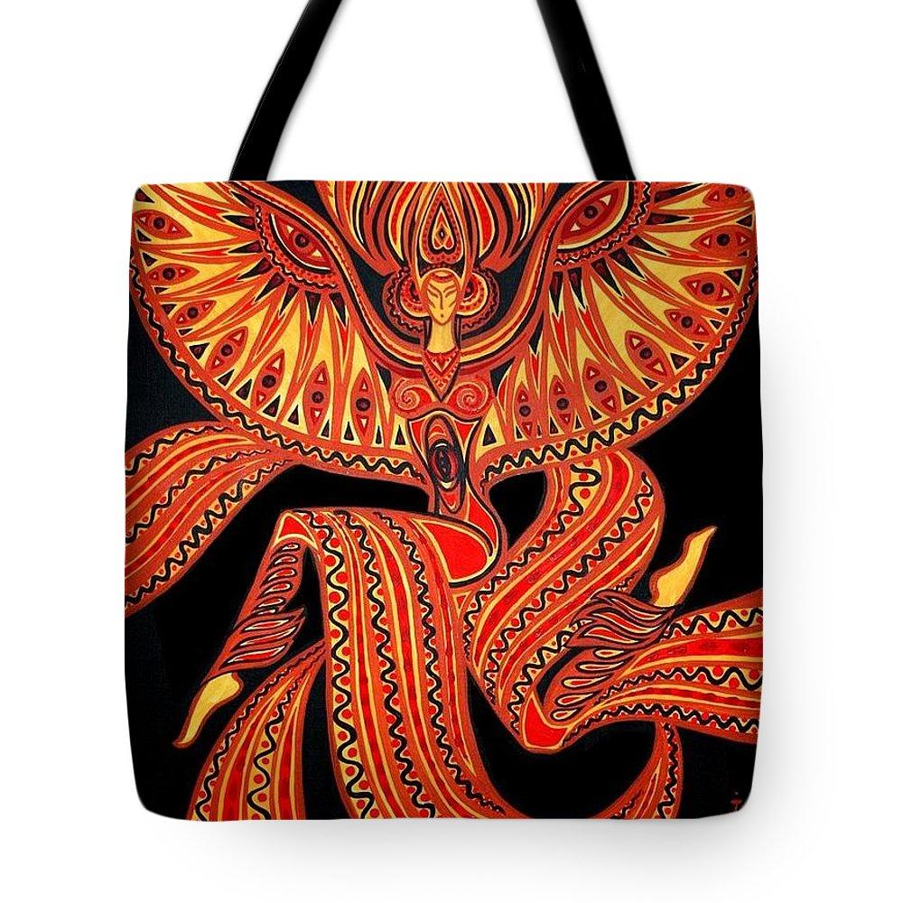 Inga Vereshchagina Tote Bag featuring the painting Magic Dance by Inga Vereshchagina
