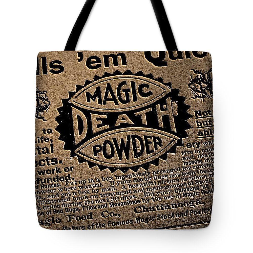 Magic Tote Bag featuring the photograph Magic Death Powder by Ed Smith