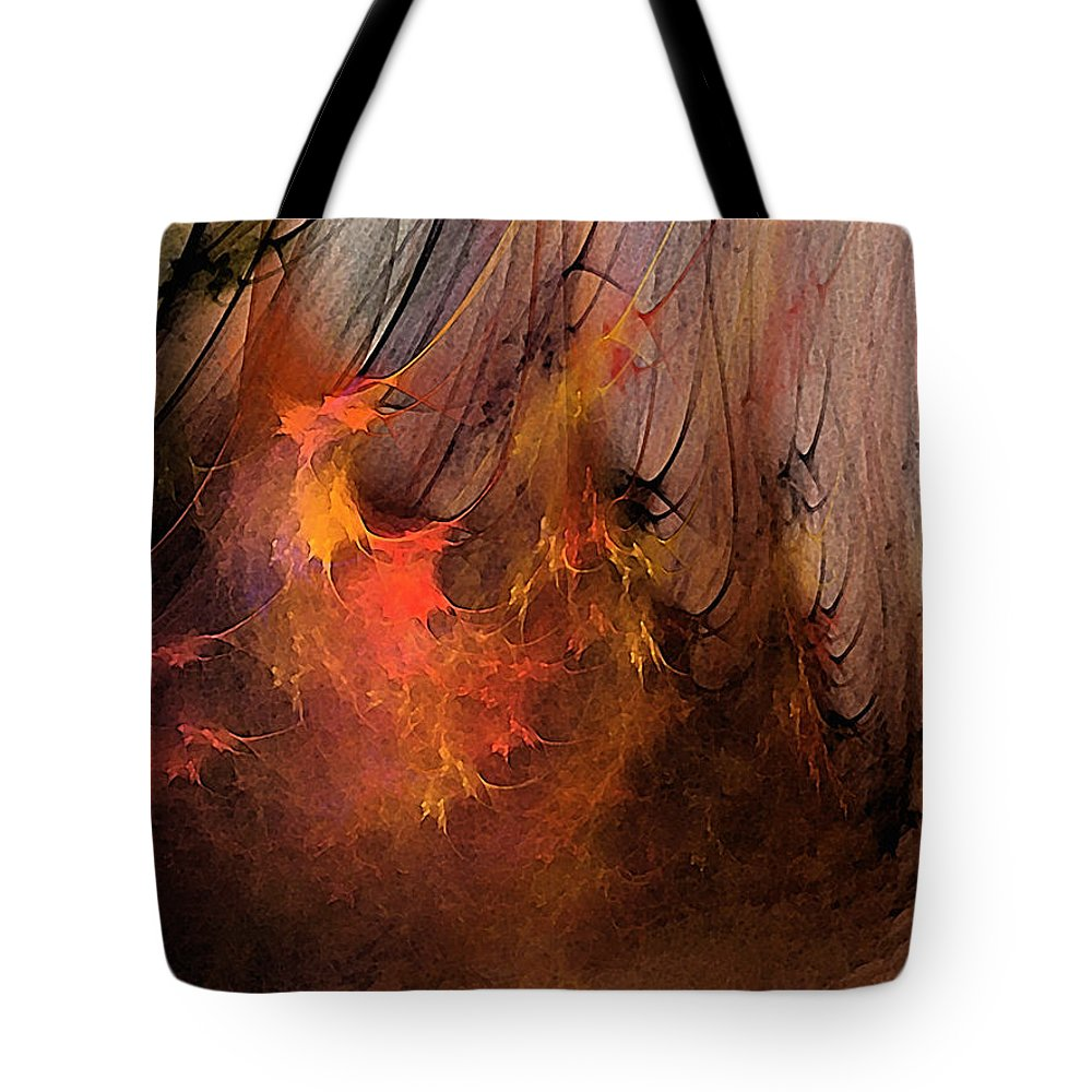 Abstract Tote Bag featuring the digital art Magic by Karin Kuhlmann