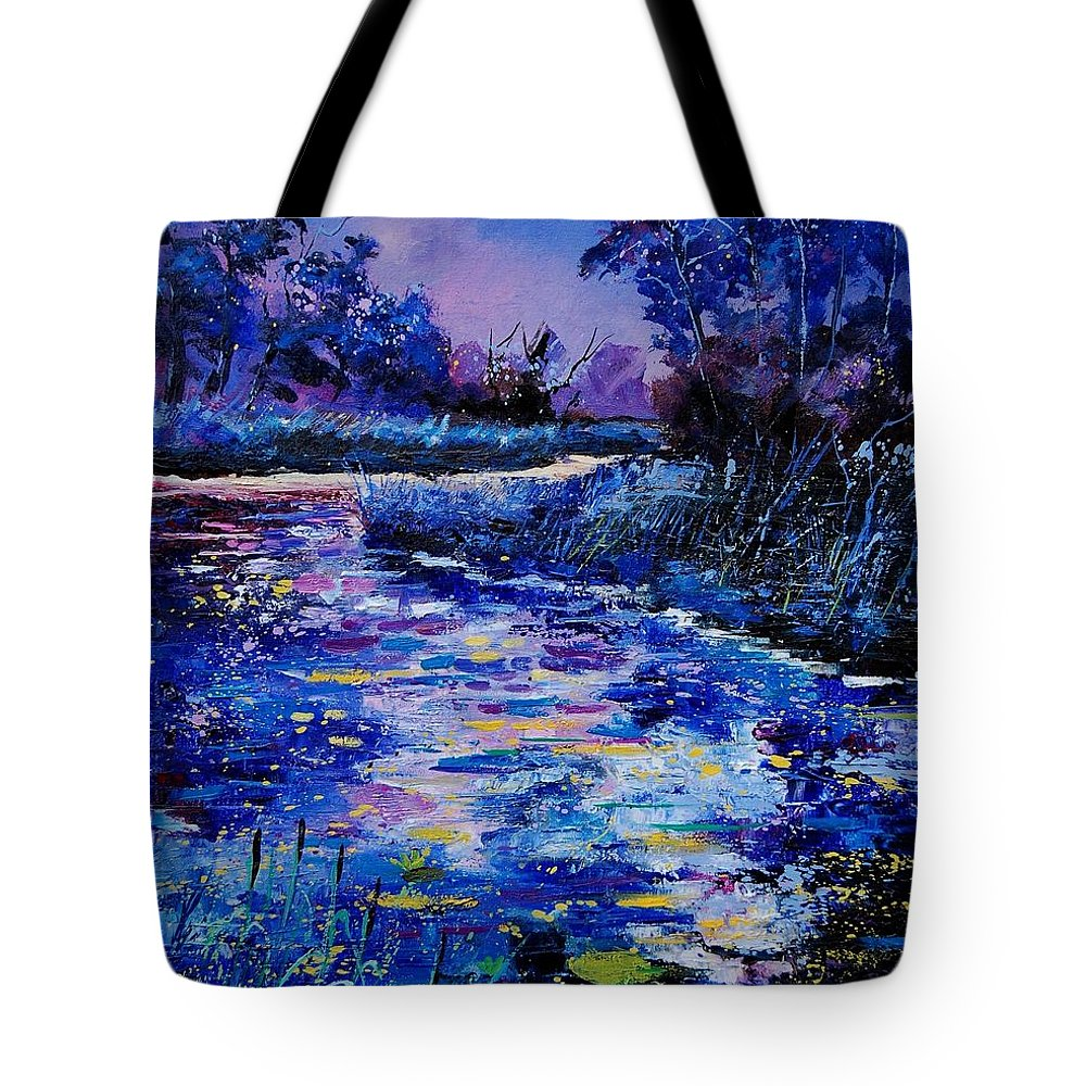 River Tote Bag featuring the painting Magic Pond by Pol Ledent
