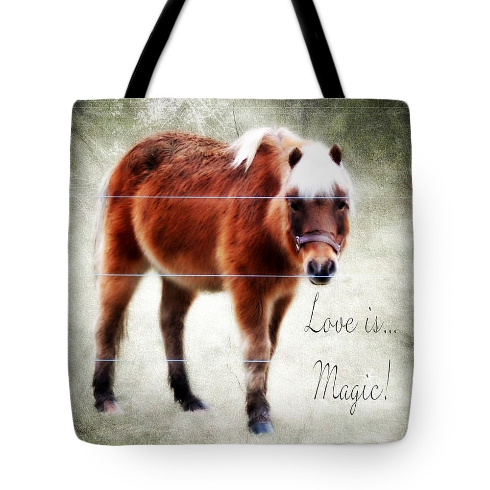 Magic Pony Tote Bag featuring the photograph Magic Pony by Anita Faye