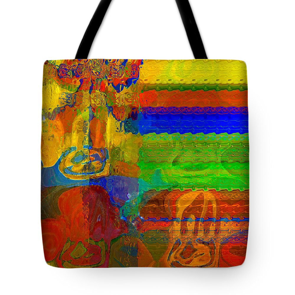 Yellow Tote Bag featuring the digital art Magical Multi by Ruth Palmer