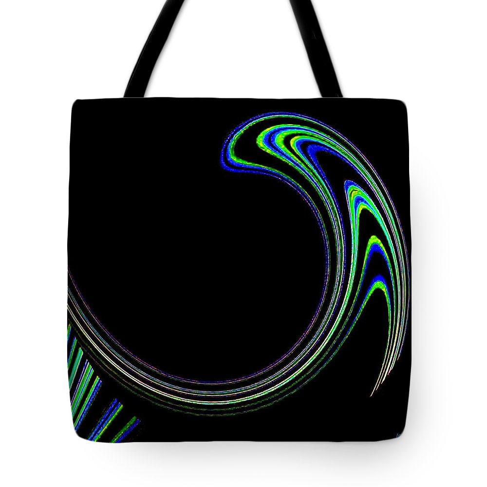 Cosmic Tote Bag featuring the digital art Magnetic Forces by Will Borden