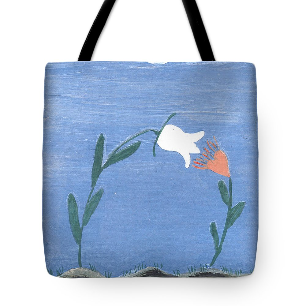 Magnetism Love Tote Bag featuring the painting Magnetism Love by Heidi Sieber
