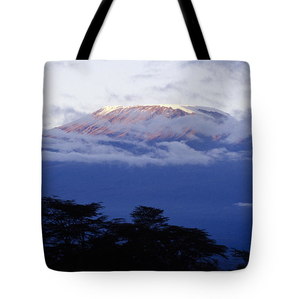 Africa Tote Bag featuring the photograph Magnificent Mount Kilimanjaro by Michele Burgess