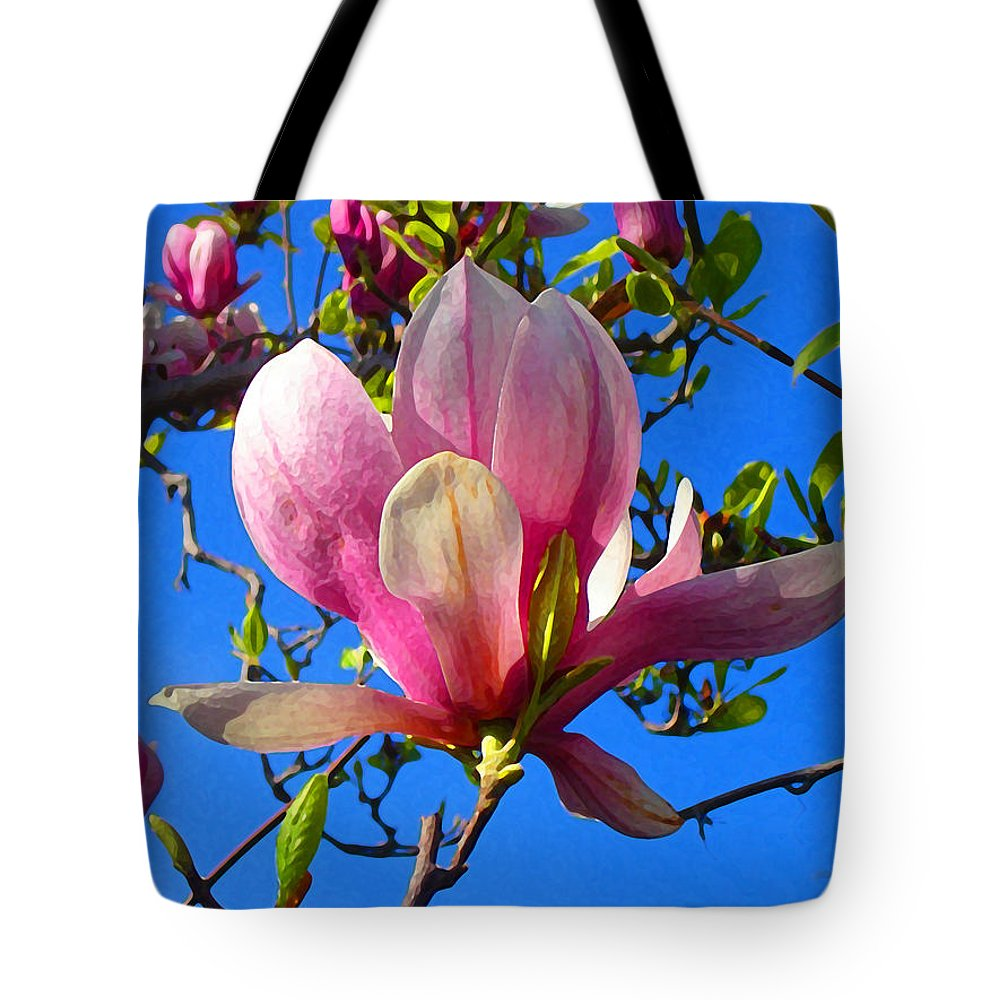Magnolia Tote Bag featuring the painting Magnolia Flower by Amy Vangsgard