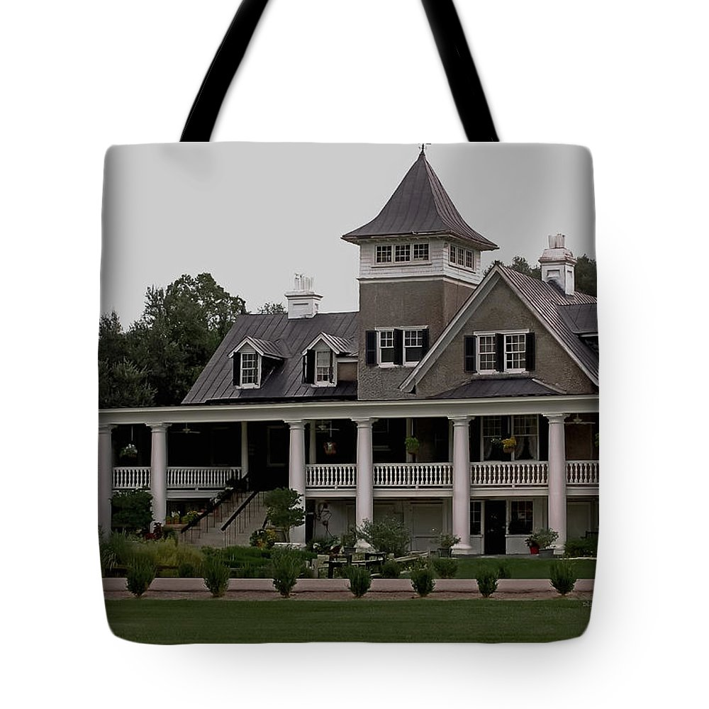 House Tote Bag featuring the photograph Magnolia Plantation Home by DigiArt Diaries by Vicky B Fuller