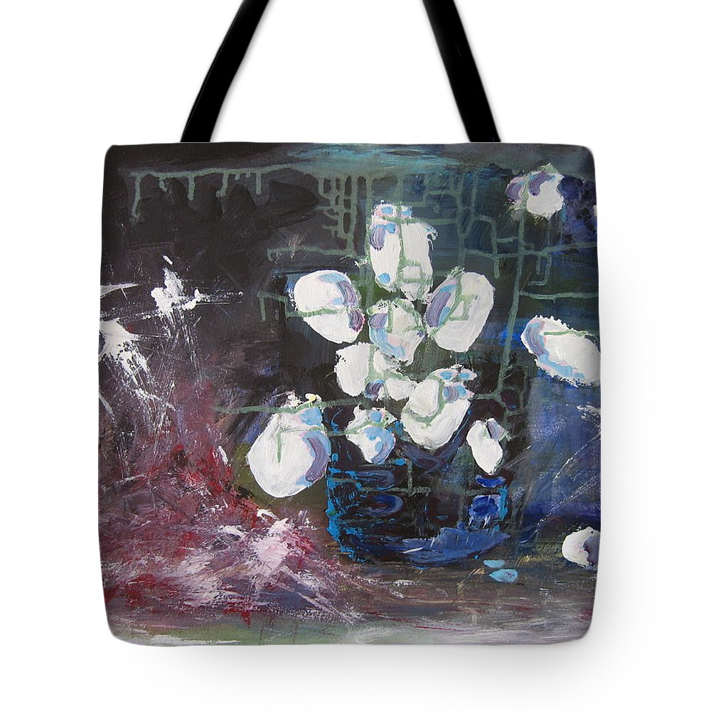 Abstract Paintings Tote Bag featuring the painting Magnolia by Seon-Jeong Kim