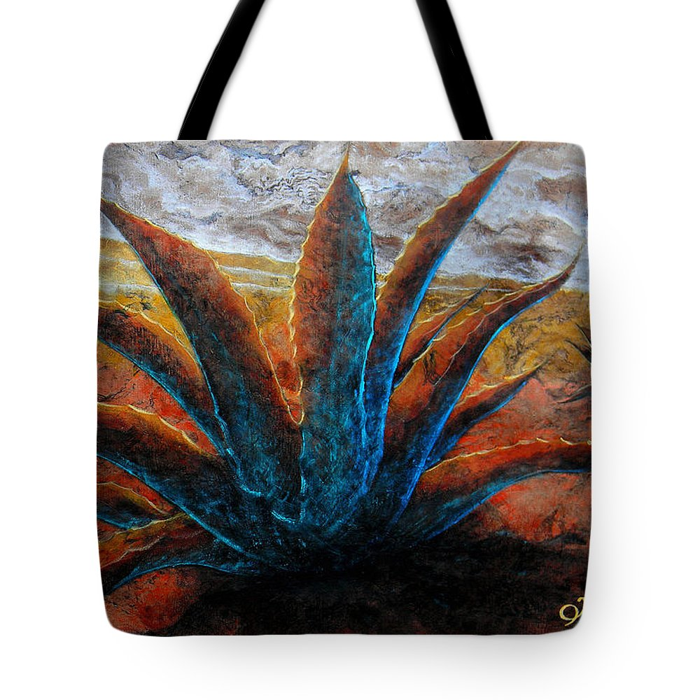 Maguey Paintings Tote Bag featuring the painting A . G . A . V . E by J - O  N  E