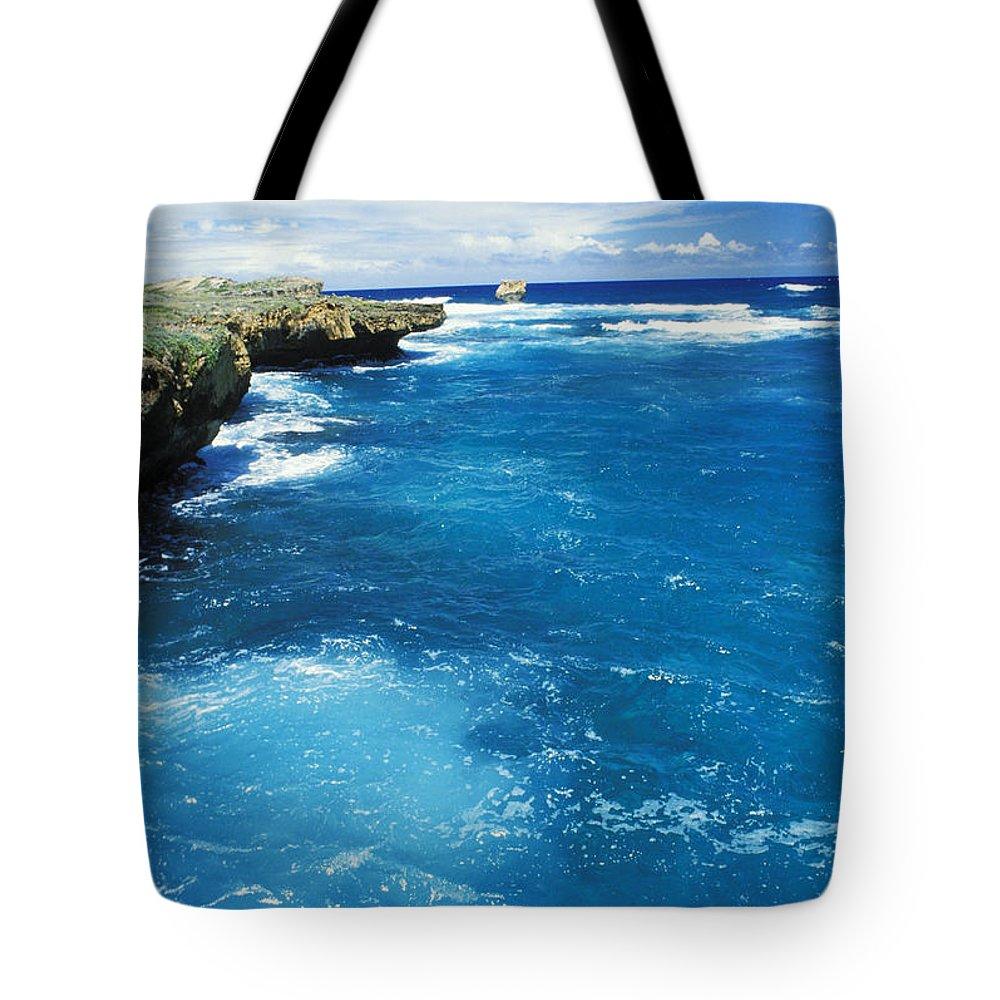 Blue Tote Bag featuring the photograph Mahaulepu Koloa by Mary Van de Ven - Printscapes