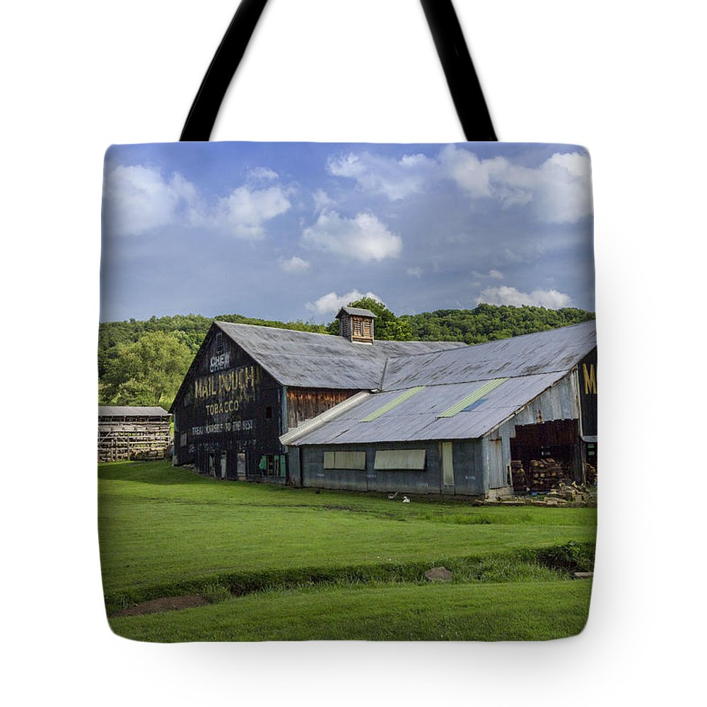 Mail Pouch Barn Tote Bag featuring the photograph Mail Pouch Barn by Rusty Glessner