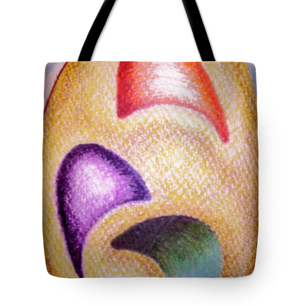 Abstract Tote Bag featuring the drawing Mailed To You by Suzanne Udell Levinger