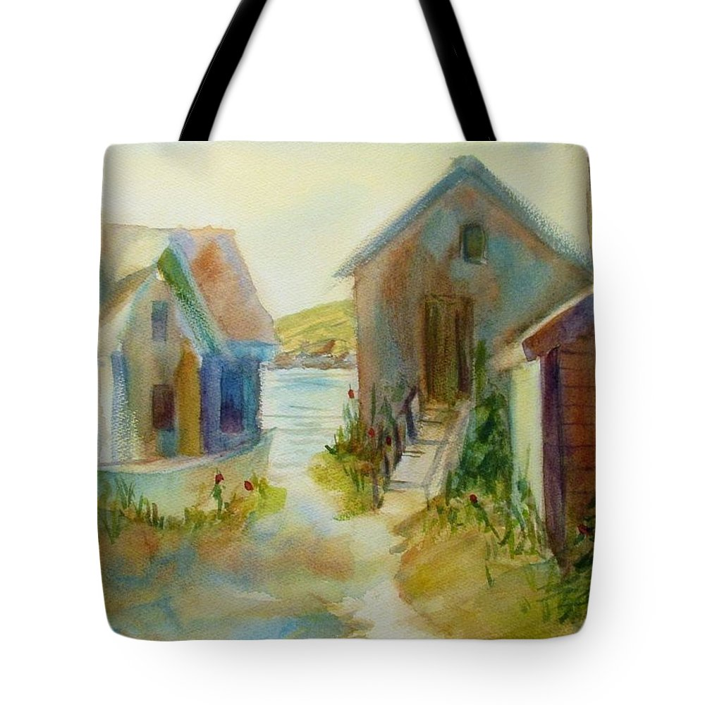 Maine Island Tote Bag featuring the painting Maine Island by Linda Emerson