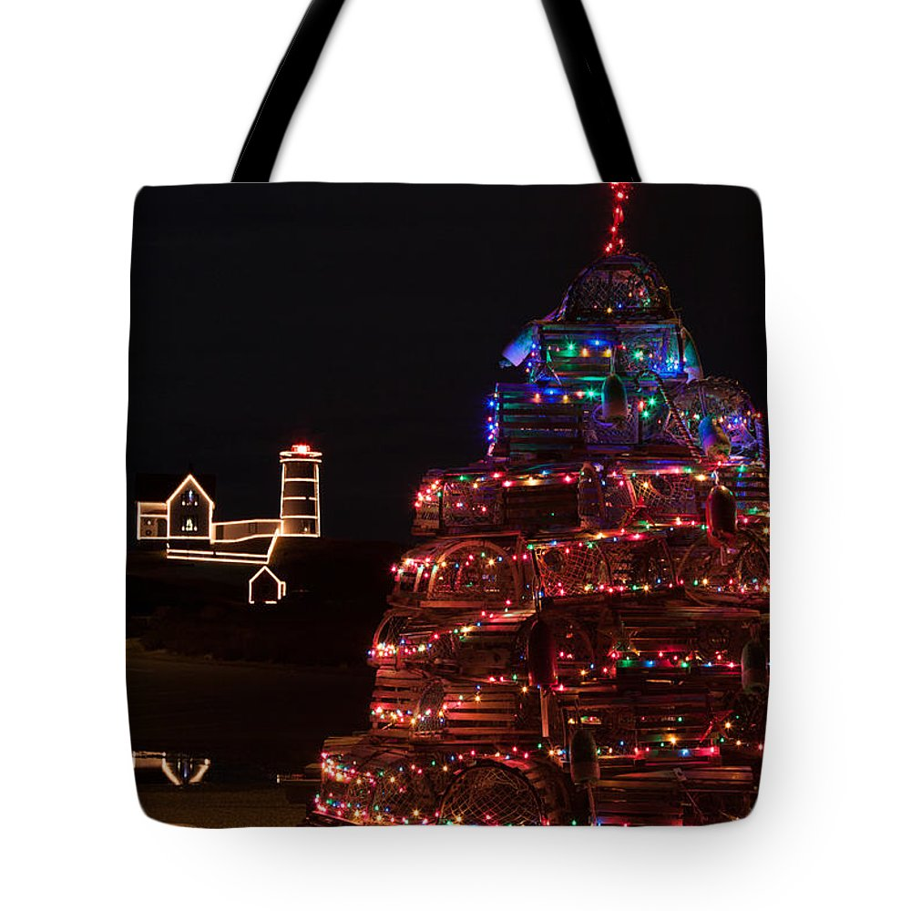 Maine Lobster Trap Christmas Tree Tote Bag for Sale by Jeff Folger