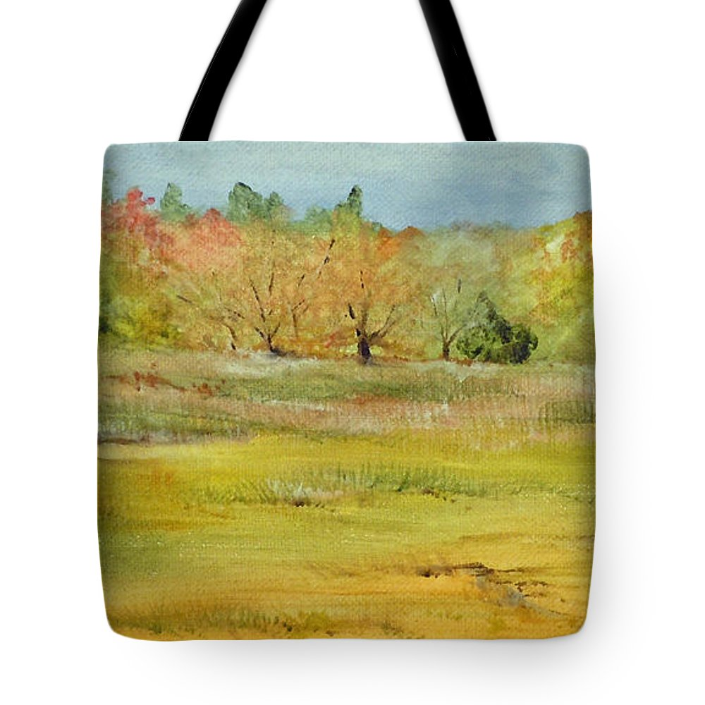 Landscape Tote Bag featuring the painting Maine Marsh by Jean Blackmer