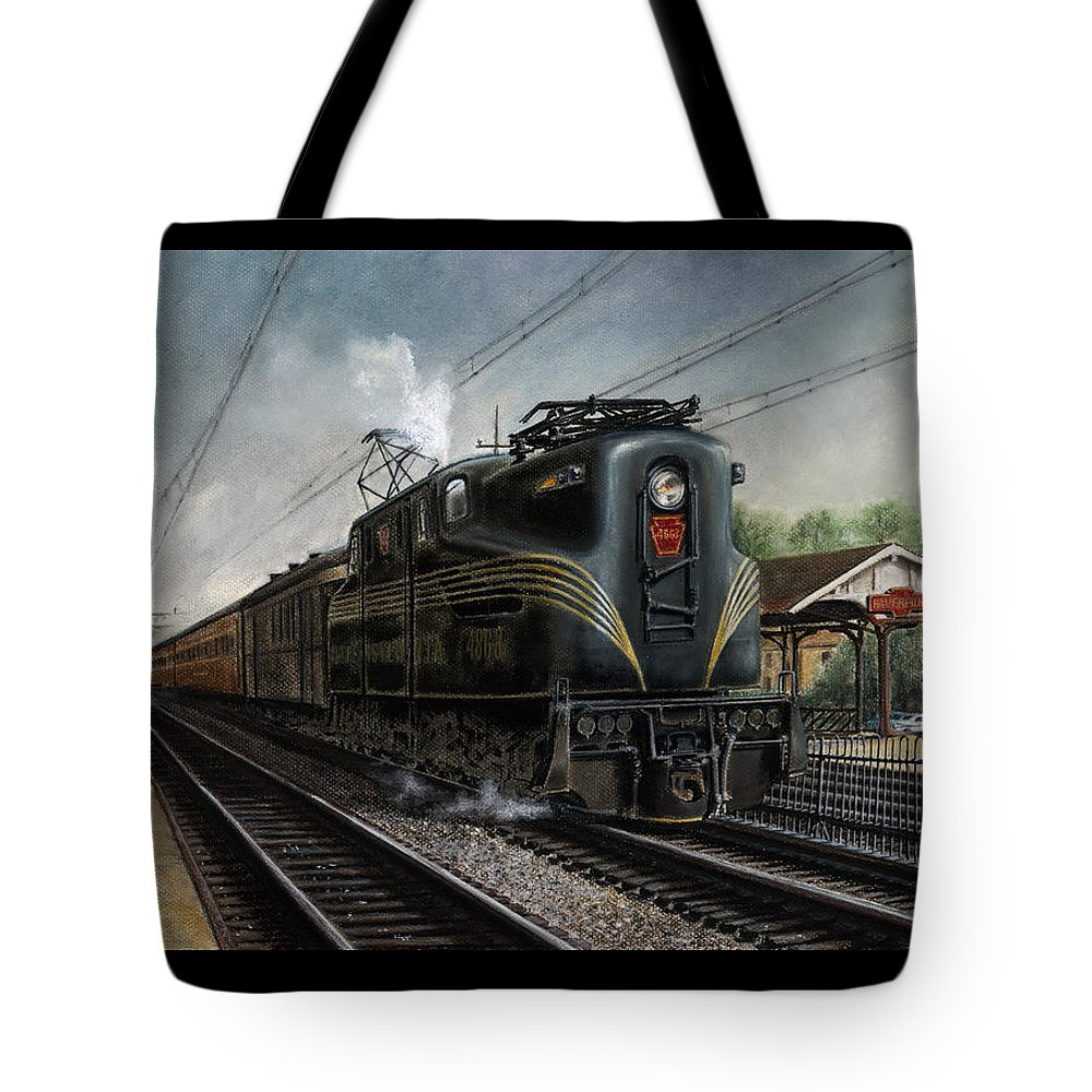 Trains Tote Bag featuring the painting Mainline Memories by David Mittner