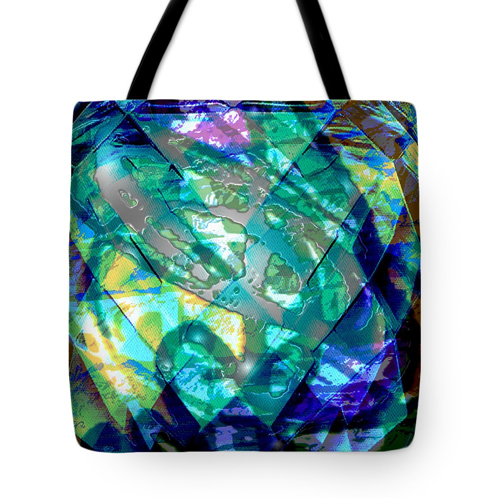 Abstract Tote Bag featuring the digital art Mainspring Of Time by Seth Weaver