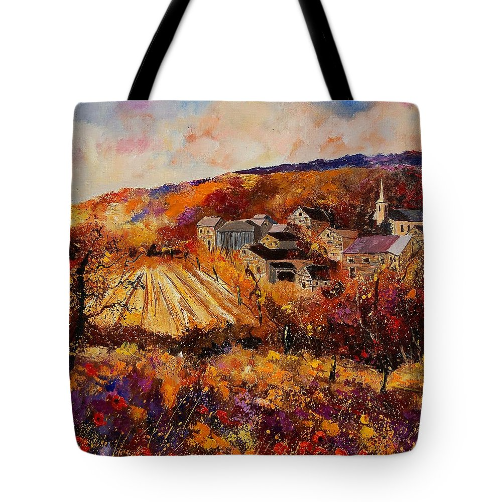 Poppies Tote Bag featuring the painting Maissin by Pol Ledent