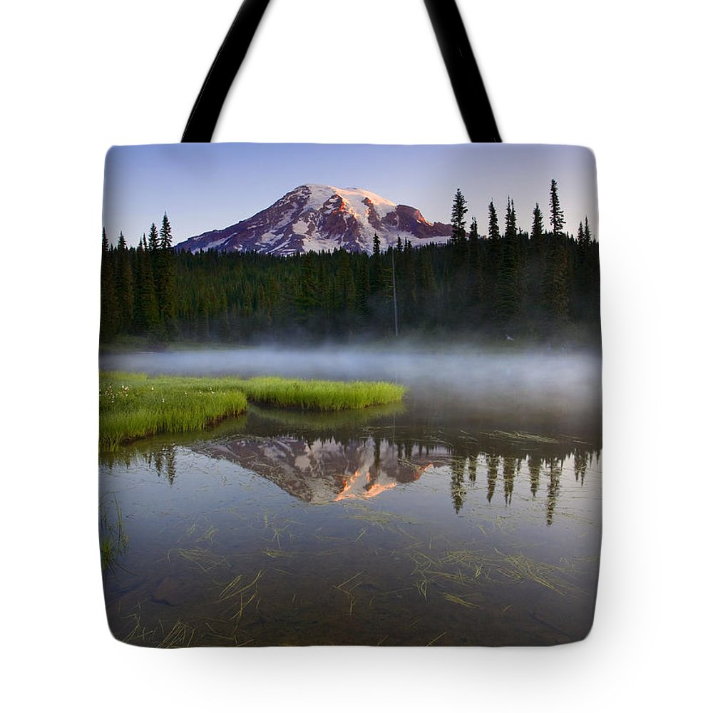 Lake Tote Bag featuring the photograph Majestic Dawn by Mike Dawson