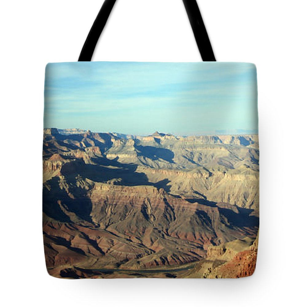 Landscape Tote Bag featuring the photograph Majestic Grand Canyon by Mary Haber