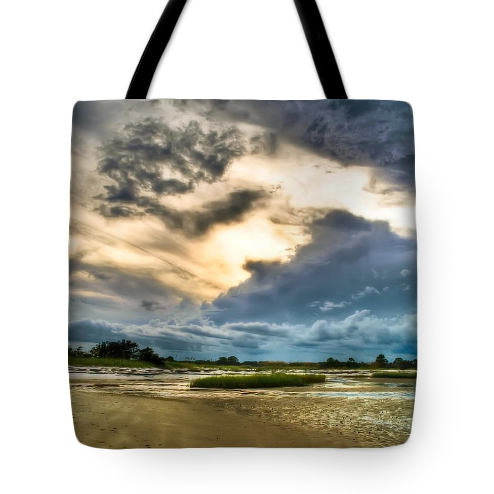 Beach Tote Bag featuring the photograph Majestic Sky by Rich Leighton