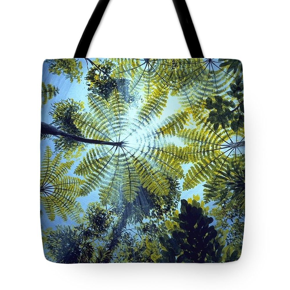 Chris Cox Tote Bag featuring the painting Majestic Treeferns by Christopher Cox
