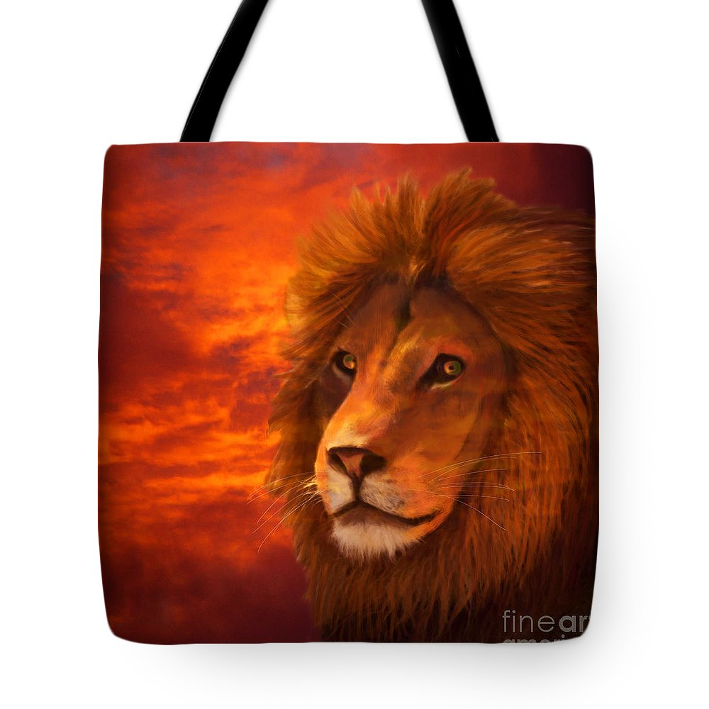 Africa Tote Bag featuring the digital art Majesty by Destiny Nowicki