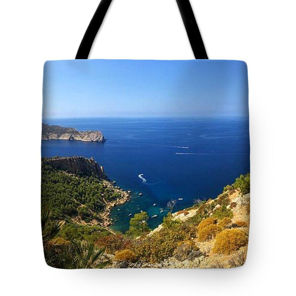 Majorca Tote Bag featuring the photograph Majorca Spain Panorama by Matthias Hauser
