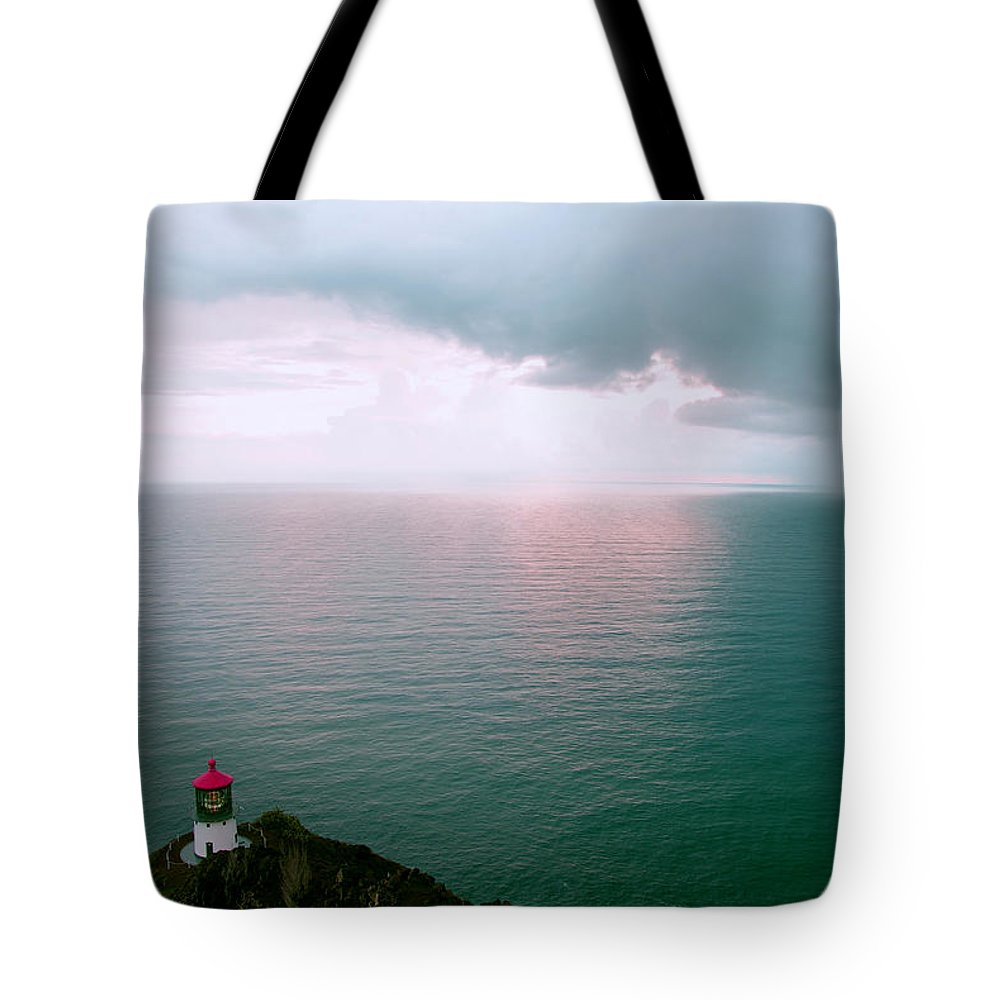 Hawaii Tote Bag featuring the photograph Makapuu Lighthouse by Kevin Smith