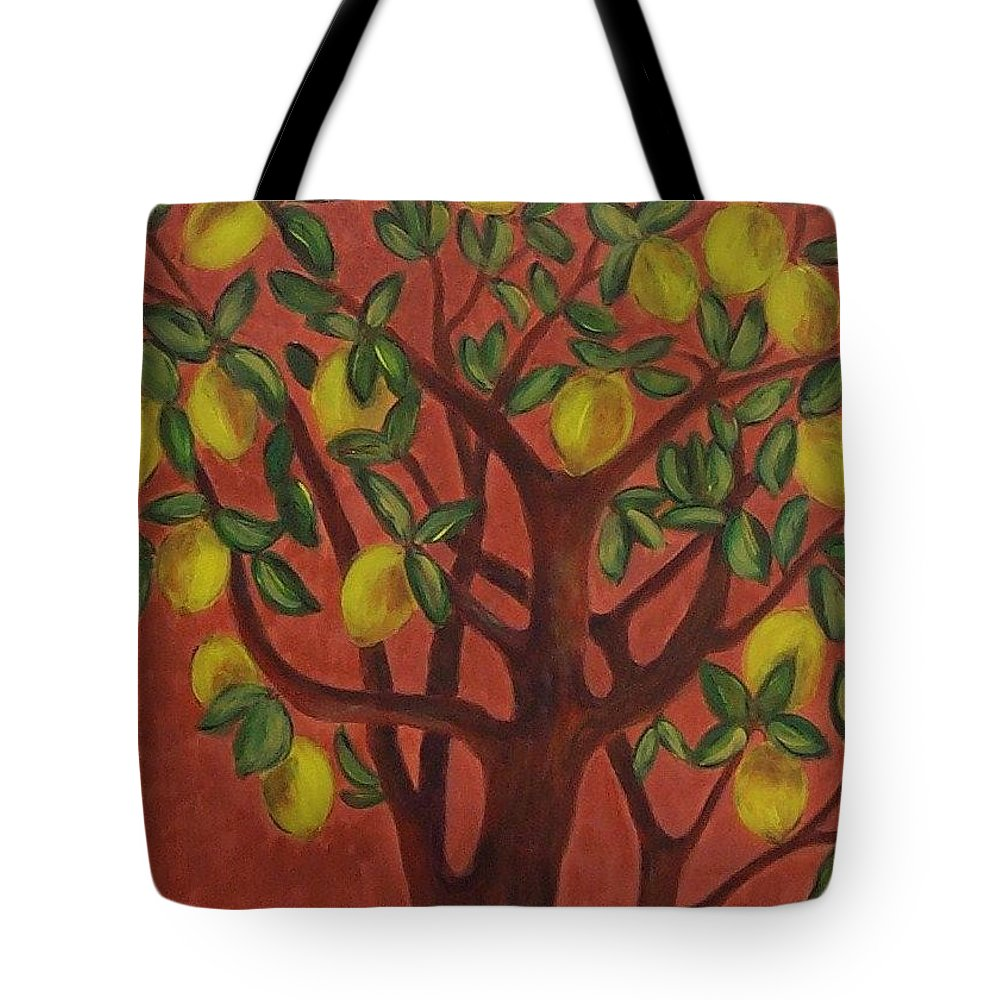Lemon Tote Bag featuring the painting Make Lemon Aid by Jeanie Watson