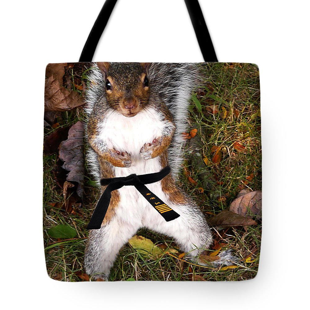 Squirrel Tote Bag featuring the photograph Make My Day by Jeff Breiman
