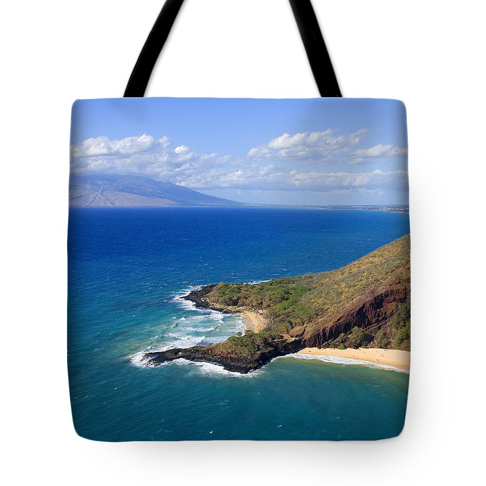 Above Tote Bag featuring the photograph Makena, Maui by Ron Dahlquist - Printscapes