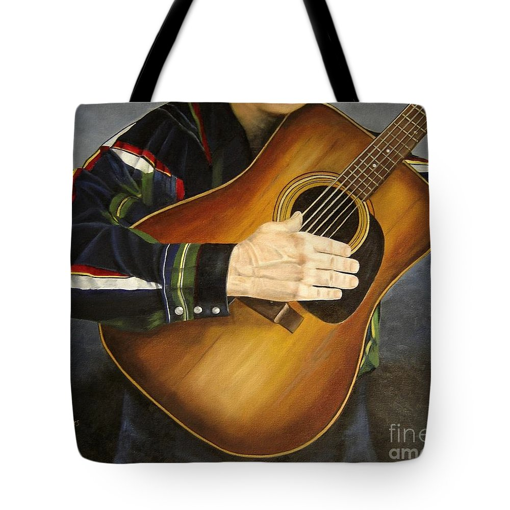 Usa Tote Bag featuring the painting Making Music by Mary Rogers