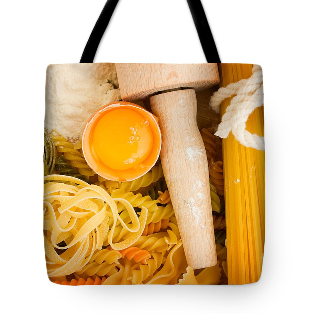 Pasta Tote Bag featuring the photograph Making Pasta by Anastasy Yarmolovich
