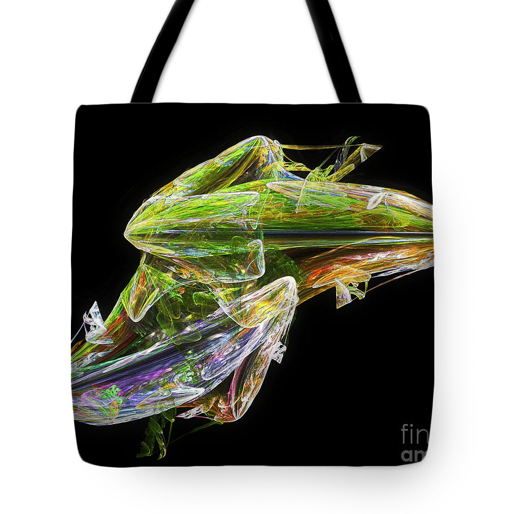 Abstract Tote Bag featuring the digital art Making Tadpoles by RC DeWinter