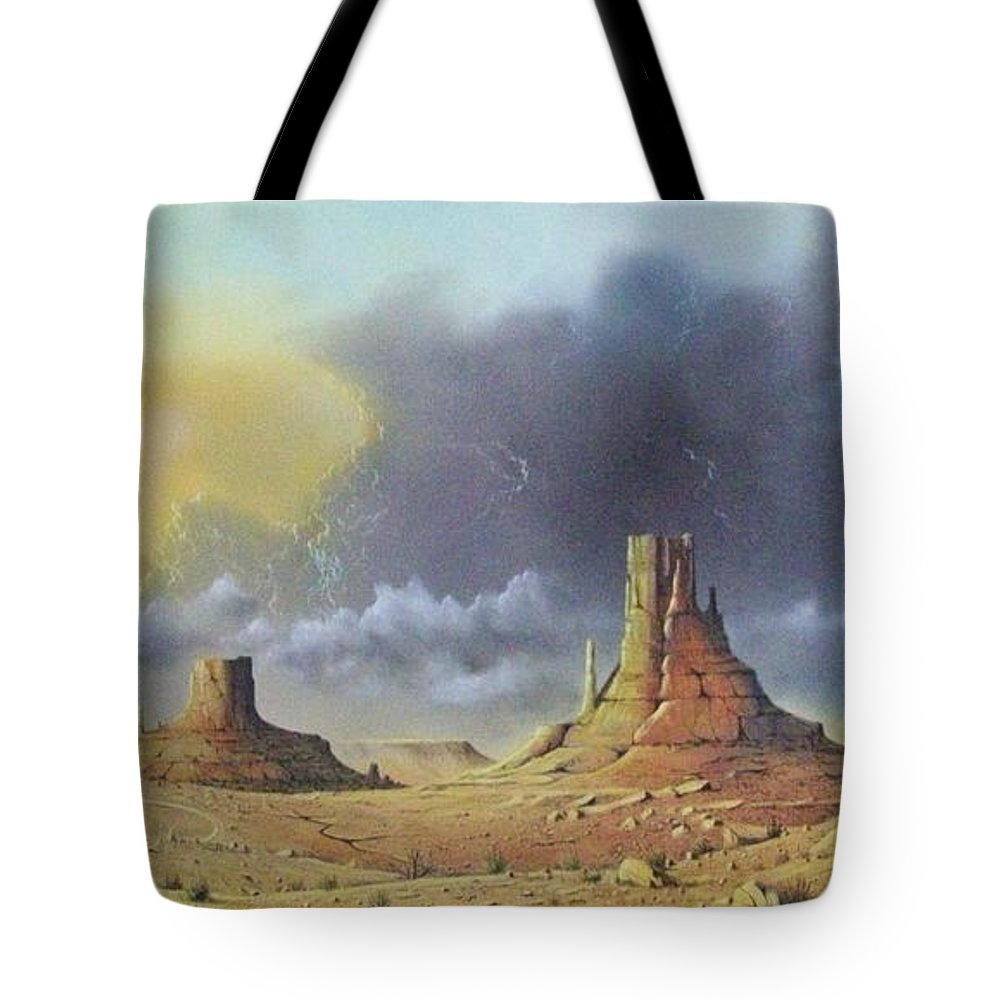 Landscape Tote Bag featuring the painting Making Up Time by Don Griffiths