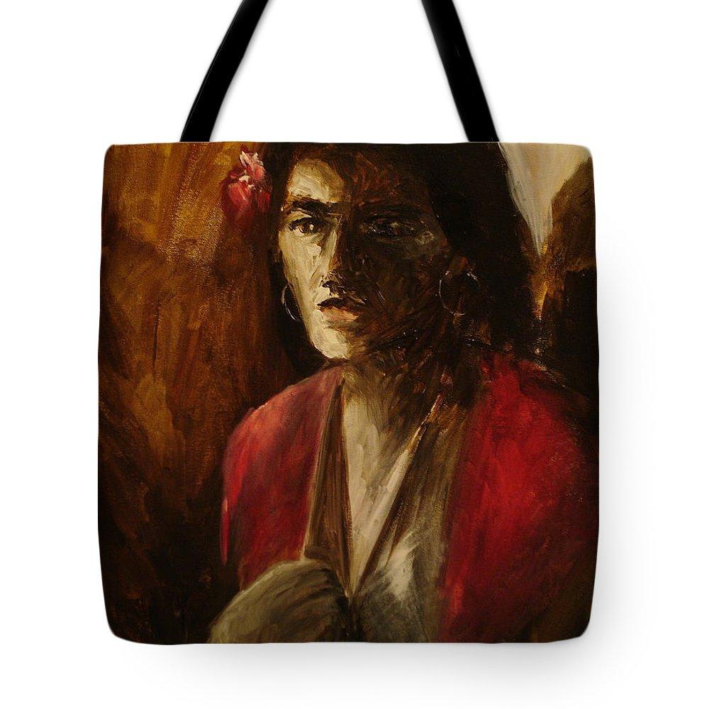 Malaguena Tote Bag featuring the painting Malaguena by Jun Jamosmos