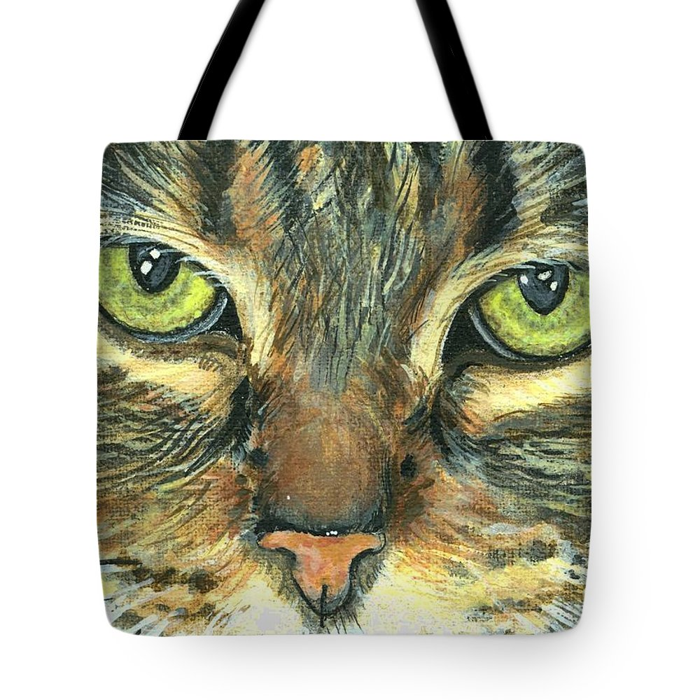 Charity Tote Bag featuring the painting Malika by Mary-Lee Sanders