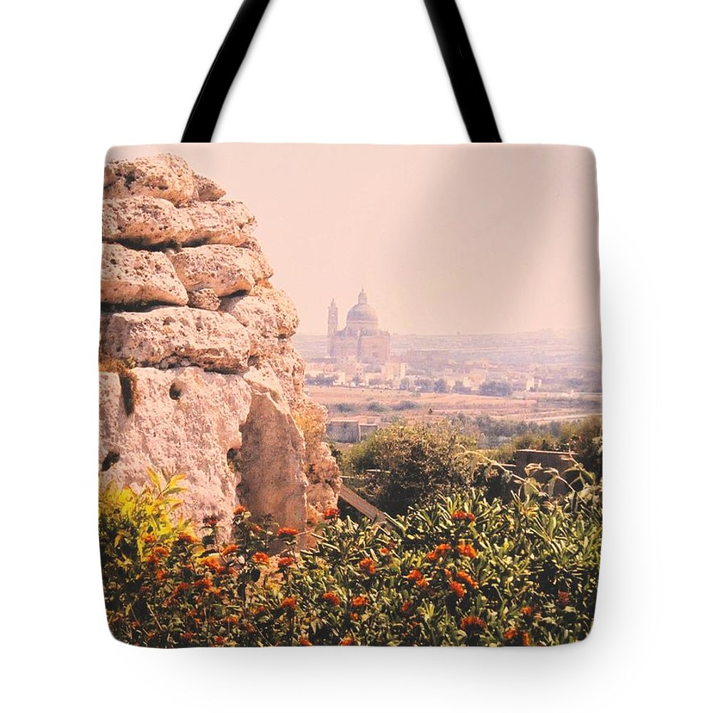 Malta Tote Bag featuring the photograph Malta Wall by Ian MacDonald