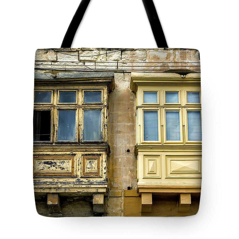 Europe Tote Bag featuring the digital art Maltase Style Windows by Tsafreer Bernstein
