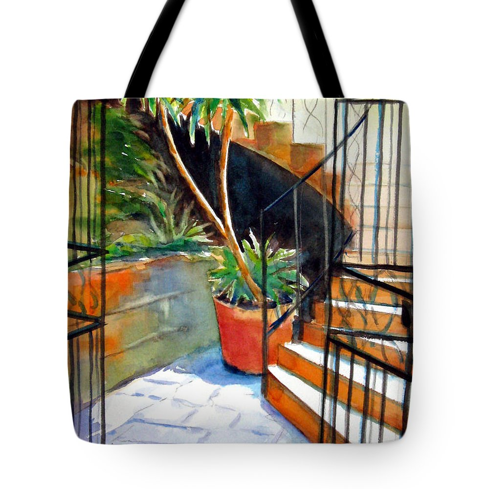 Plant Tote Bag featuring the painting Maltese Experience by Marsha Elliott