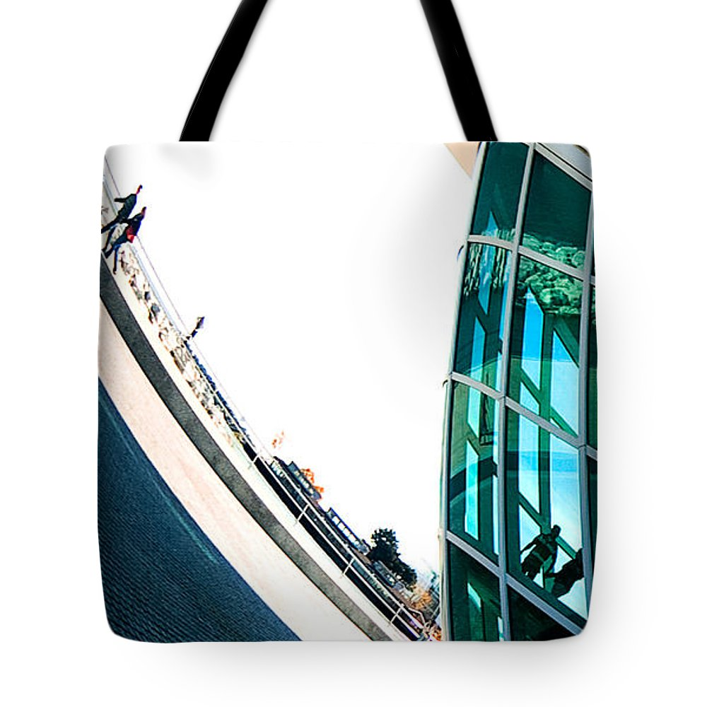 Milwaukee Tote Bag featuring the photograph Mam Curved by Steven Dunn