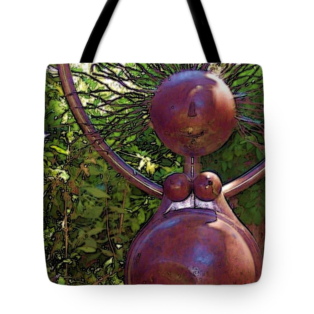 Sculpture Tote Bag featuring the photograph Mama Tool by Debbi Granruth