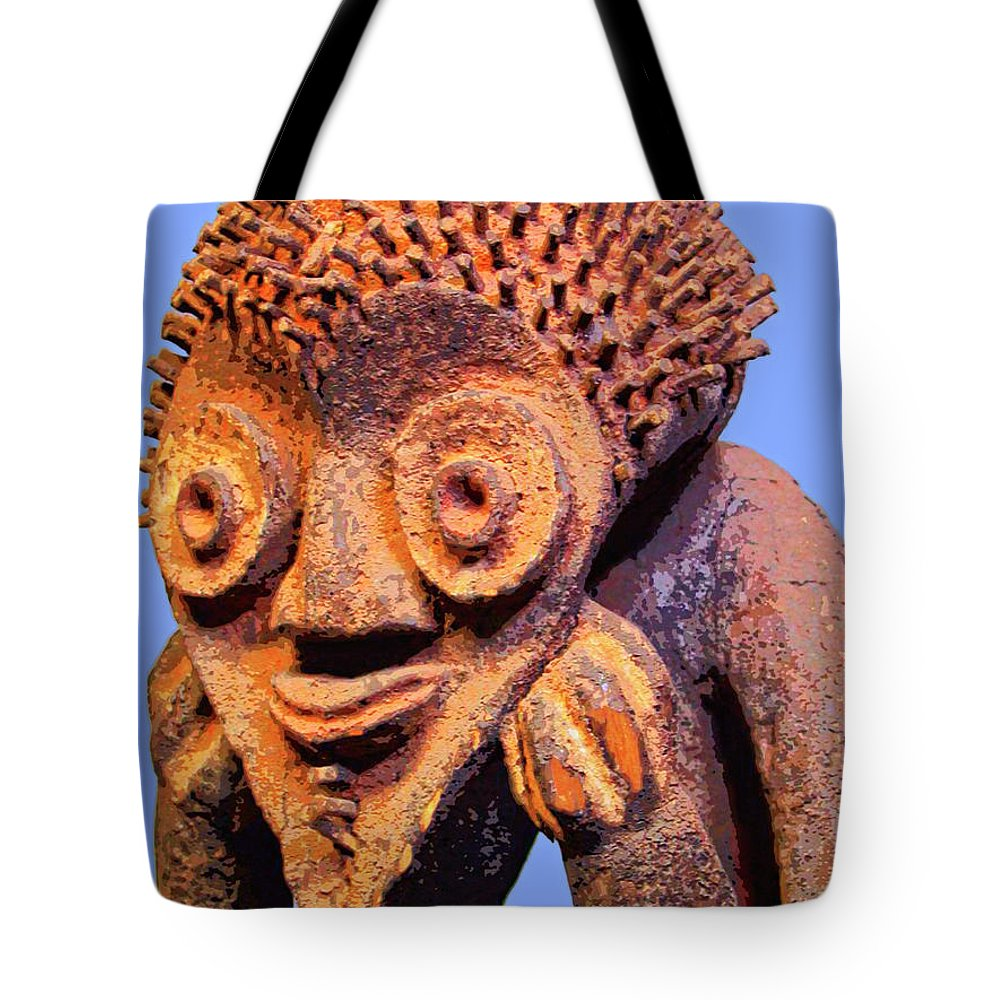 Africa Tote Bag featuring the mixed media Mambila Figure by Dominic Piperata