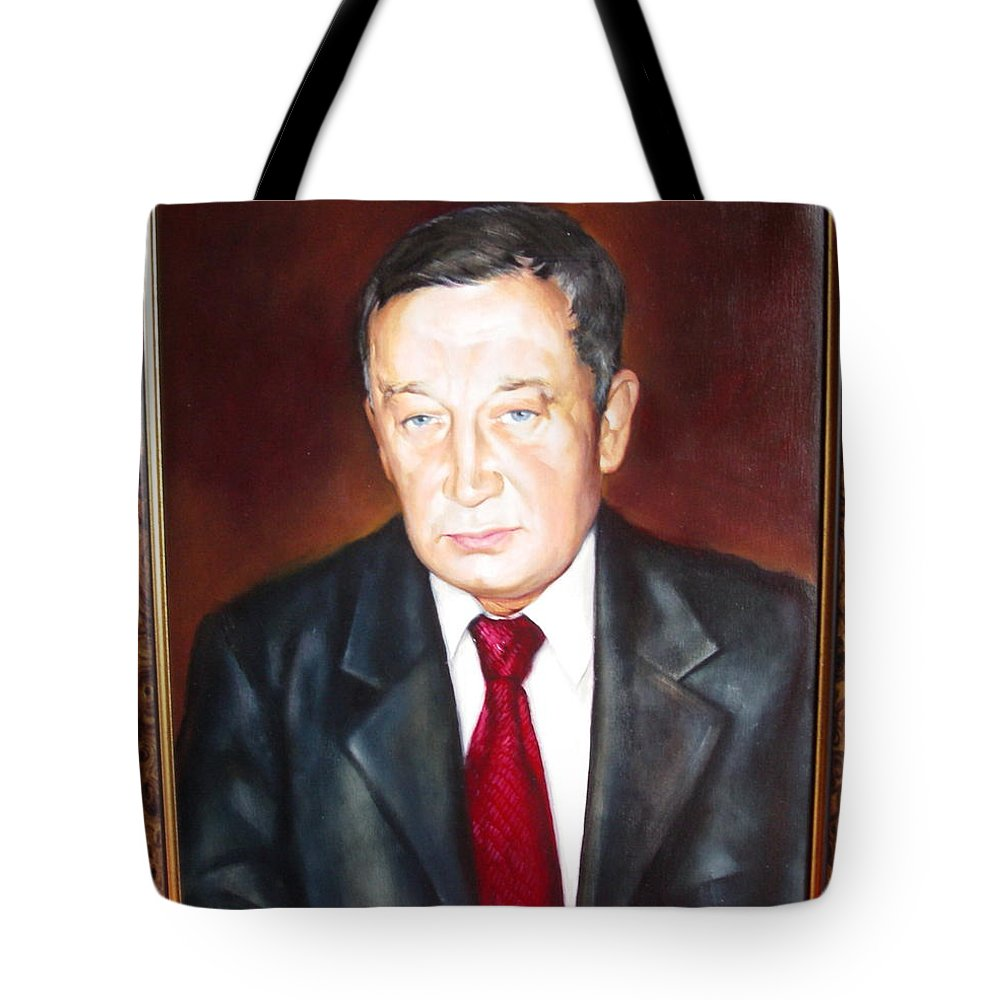 Art Tote Bag featuring the painting Man 1 by Sergey Ignatenko