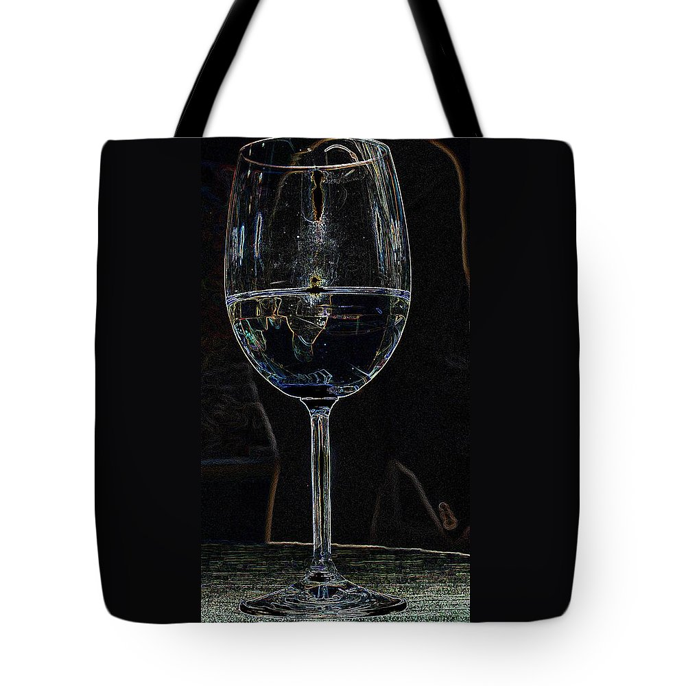 Wine Tote Bag featuring the photograph Man In A Glass by Ian MacDonald